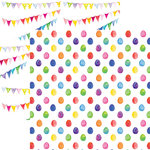 Reminisce - Springtime Collection - 12 x 12 Double Sided Paper - Happy Easter