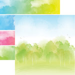 Reminisce - Springtime Collection - 12 x 12 Double Sided Paper - Happy Spring