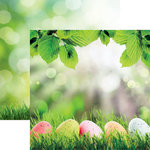 Reminisce - Springtime Collection - 12 x 12 Double Sided Paper - Easter Egg Hunt