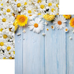 Reminisce - Springtime Collection - 12 x 12 Double Sided Paper - Daisies