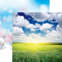 Reminisce - Springtime Collection - 12 x 12 Double Sided Paper - Spring Day