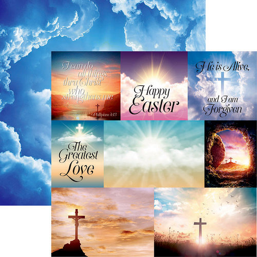 Reminisce - Springtime Collection - 12 x 12 Double Sided Paper - He Is Risen