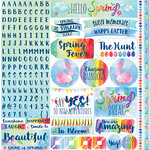 Reminisce - Springtime Collection - 12 x 12 Cardstock Stickers - Combo