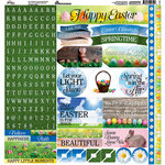 Reminisce - Springtime Collection - 12 x 12 Cardstock Stickers - Alpha