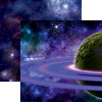 Reminisce - Space Wars 2 Collection - 12 x 12 Double Sided Paper - Purple Rings