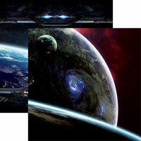 Reminisce - Space Wars 2 Collection - 12 x 12 Double Sided Paper - Cosmos