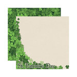 Reminisce - Shamrock Collection - 12 x 12 Double Sided Paper - St. Patrick's Day
