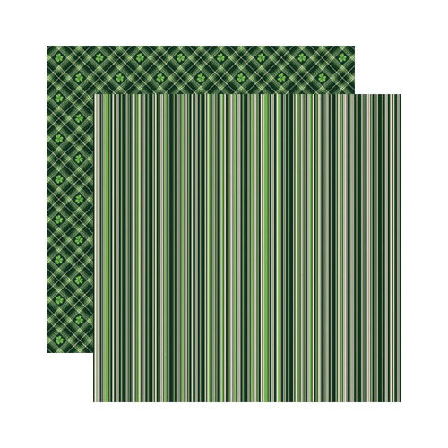 Reminisce - Shamrock Collection - 12 x 12 Double Sided Paper - Celtic Stripe