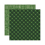 Reminisce - Shamrock Collection - 12 x 12 Double Sided Paper - Celtic Plaid