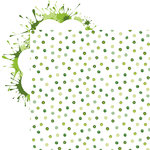 Reminisce - Shamrock Shake Collection - 12 x 12 Double Sided Paper - Shamrock Dot