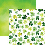 Reminisce - Shamrock Shake Collection - 12 x 12 Double Sided Paper - Shamrock Watercolor