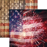 Reminisce - Star Spangled Spectacular Collection - 12 x 12 Double Sided Paper - Star Spangled