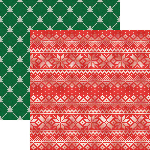 Reminisce - Santas Sweater Collection - 12 x 12 Double Sided Paper - Santa's Sweater