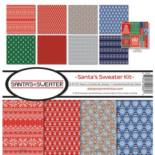 Reminisce - Santas Sweater Collection - 12 x 12 Collection Kit
