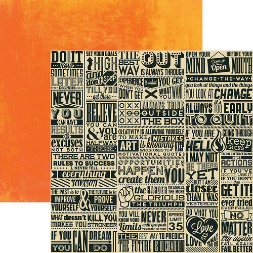 Reminisce - Seize the Day Collection - 12 x 12 Double Sided Paper - Believe