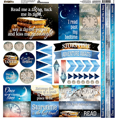 Reminisce - Storytime Collection - 12 x 12 Cardstock Stickers - Elements