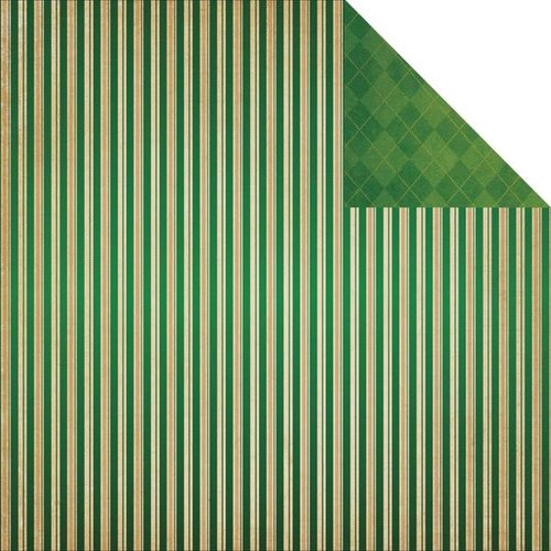 Reminisce - St. Patrick's Day Collection - 12 x 12 Double Sided Paper - St. Patrick's Stripe