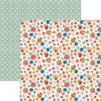 Reminisce - Stitch and Sew Collection - 12 x 12 Double Sided Paper - Cute As A Button