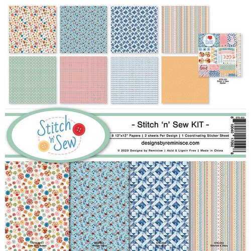 Reminisce - Stitch and Sew Collection - 12 x 12 Collection Kit