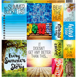 Reminisce - Summertime Collection - 12 x 12 Cardstock Stickers - Poster