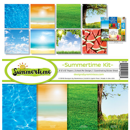 Reminisce - Summertime Collection - 12 x 12 Collection Kit