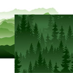Reminisce - Scenic View Collection - 12 x 12 Double Sided Paper - Evergreen