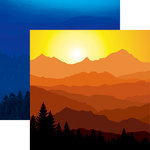 Reminisce - Scenic View Collection - 12 x 12 Double Sided Paper - Day or Night