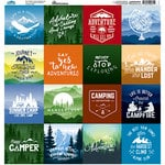 Reminisce - Scenic View Collection - 12 x 12 Cardstock Stickers - Square