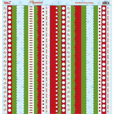 Reminisce - Santa's Workshop Collection - Christmas - 12 x 12 Die Cut Cardstock Stickers - Santa's Workshop Ribbon, CLEARANCE