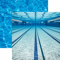 Reminisce - Swim Team Collection - 12 x 12 Double Sided Paper - Under Water