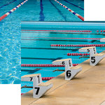 Reminisce - Swim Team Collection - 12 x 12 Double Sided Paper - Starting Blocks