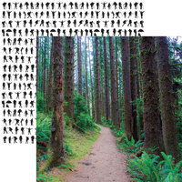 Reminisce - Take a Hike Collection - 12 x 12 Double Sided Paper - Forest Trail