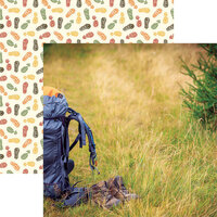 Reminisce - Take a Hike Collection - 12 x 12 Double Sided Paper - Backpacking