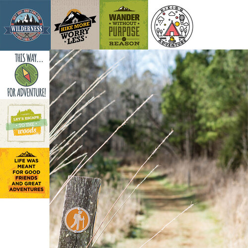 Reminisce - Take a Hike Collection - 12 x 12 Double Sided Paper - Hiking