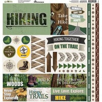Reminisce - Take a Hike Collection - 12 x 12 Elements Sticker