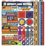 Reminisce - Toy Box Collection - 12 x 12 Cardstock Stickers - Multi