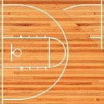 Reminisce - The Basketball Collection - 12 x 12 Double Sided Paper - Basketball Court
