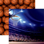 Reminisce - Basketball 2 Collection - 12 x 12 Double Sided Paper - Arena