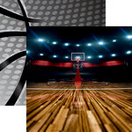 Reminisce - Basketball 2 Collection - 12 x 12 Double Sided Paper - Three Pointer