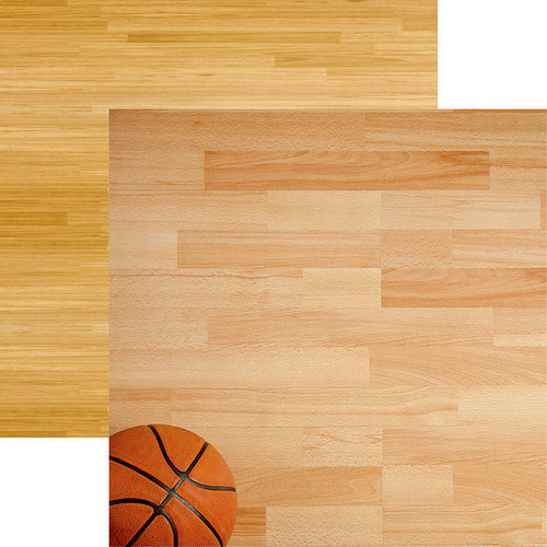 Reminisce - Basketball 2 Collection - 12 x 12 Double Sided Paper - Hardwood