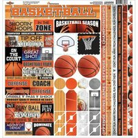 Reminisce - The Basketball Collection - 12 x 12 Cardstock Stickers - Multi