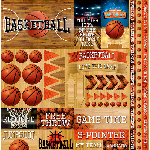 Reminisce The Basketball Collection 2 Scrapbook Kit