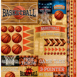 Reminisce - Basketball 2 Collection - 12 x 12 Cardstock Stickers - Elements