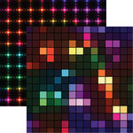 Reminisce - Tech Bubble Collection - 12 x 12 Double Sided Paper - Neon Lights