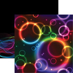 Reminisce - Tech Bubble Collection - 12 x 12 Double Sided Paper - Glow Party