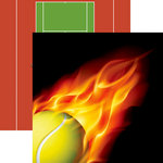 Reminisce - Tennis Collection - 12 x 12 Double Sided Paper - Hot Shot