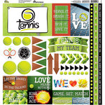 Reminisce - Tennis Collection - 12 x 12 Cardstock Stickers - Elements