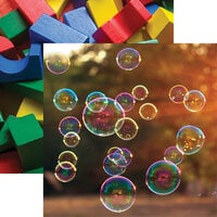 Reminisce - Terrific Toddler Collection - 12 x 12 Double Sided Paper - Bubbles!