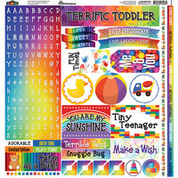 Reminisce - Terrific Toddler Collection - 12 x 12 Elements Sticker