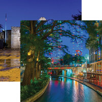 Reminisce - Texas Collection - 12 x 12 Double Sided Paper - River Walk